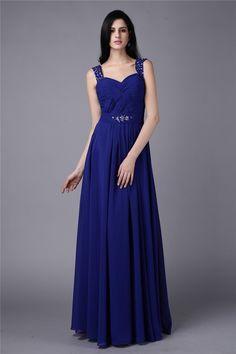 Stylish A-Line Princess Sleeveless Beading Straps Long Chiffon Dresses.  Chiffon Dress LongProm ... 450f2495d993