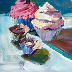 Patti Mollica - paintings of cakes- perfect for a cute kitchen...im thinking in a breakfast nook maybe?