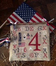 4th of July Sampler R-79 INCLUDES charms cross stitch patterns by Rovaris at thecottageneedle.com red white and blue patriotic USA 1776 by thecottageneedle