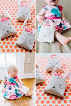 DIY Mini Bunny Bag for Easter.