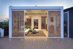Roof Terrace Design, Roof Design, Patio Design, Outdoor Metal Wall Decor, Outdoor Decor, Outdoor Spaces, Outdoor Living, Terrace Garden, Modern House Design