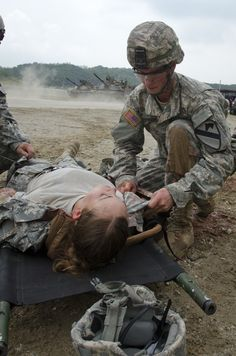 Combat medics train as they fight Army Medic, Combat Medic, Once A Marine, Emergency Medical Technician, United States Army, Health Care, Train, Us Army, Strollers