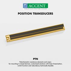 Position Transducer Potentiometric resistance elements and wiper; for mounting in closed devices; customized solutions with laser-linearization, switch function and redundancy technically feasible #PTN #positiontransducer Visit- http://www.accentsensors.com/