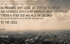 It is not God who kills the children...it's us.