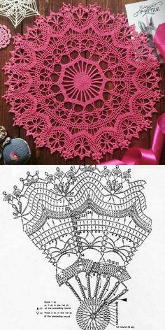 Free Crochet Doily Patterns, Crochet Doily Diagram, Crochet Chart, Crochet Designs, Crochet Wall Hangings, Crochet Dollies, Crochet Market Bag, Crochet Tablecloth, Crochet Videos