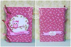 Caderneta para anotações Scrapbook, Office Supplies, Gift Wrapping, Gifts, Owl Bird, Gift Wrapping Paper, Presents, Wrapping Gifts, Scrapbooking