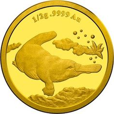 2014 $2 Nature Of #Australia #Platypus Gold Proof Coin - The platypus is an animal like no other, and this unique Australian mammal intrigued 18th century scientists with its webbed feet, bird-like bill, venomous spur and egg-laying method of reproduction.