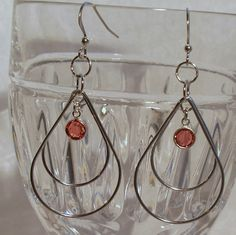 Silver Double Teardrop Dangles by DesignsByDeb18 on Etsy, $18.50