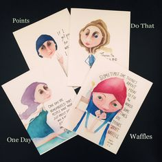 We're In This Together ~ four greeting cards by ScaryFairyFactory on Etsy