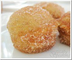 Pumpkin Poppers - like mini pumpkin donuts!