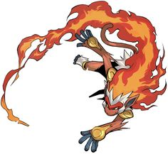 I still have my first Pokemon (on the games) and it is Infernape.