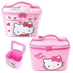 Hello Kitty Beauty Travel Cosmetic Bag Girl Fashion Multifunction Makeup Pouch