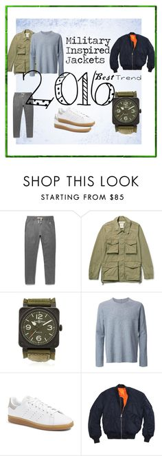 """""""Military Inspired Jackets"""" by maninaustin ❤ liked on Polyvore featuring Remi Relief, Bell & Ross, Kazuyuki Kumagai, adidas, men's fashion and menswear"""