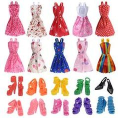 10 Pcs Doll Clothes Hanger Holder House Dress Accessories For Barbie Imagination