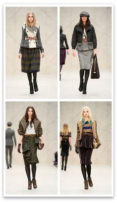 Fall Winter 2012 2013 Runway Fashion: BURBERRY