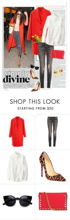 """""""Bold Coat............"""" by style-stories ❤ liked on Polyvore featuring rag & bone, R13, Uniqlo, Christian Louboutin, Uno de 50, women's clothing, women, female, woman and misses"""