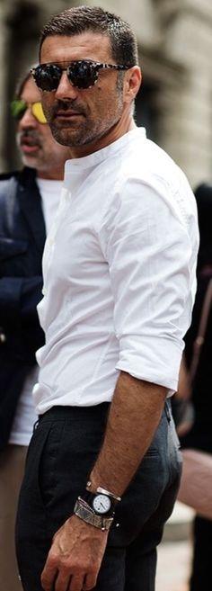 Frieed Men Linen Buttons Casual Long Sleeve Stand Collar Shirts