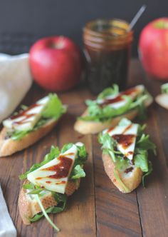 Bruschetta with manchego and boiled down apple cider | Moscow Food Coop