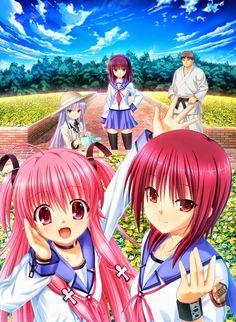 Outside - angel beats Sad Anime, Kawaii Anime, Manga Anime, Anime Art, Angel Beats, Anime Angel, Anime Films, Anime Characters, Anime Friendship