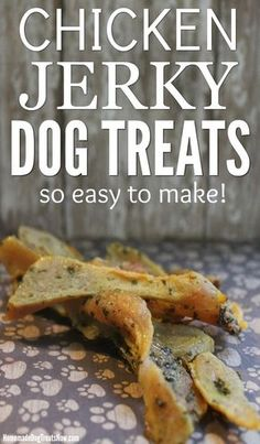 Homemade Dog Food Make these Chicken Jerky Dog Treats in no time! Dogs love this chicken jerky and it only takes 3 ingredients to make. Such a simple and healthy homemade dog treat. Easy Dog Treat Recipes, Healthy Dog Treats, Doggie Treats, Diabetic Dog Treat Recipe, Sweet Potato Dog Treats, Dog Chews, Dog Snacks, Labrador Retriever, Golden Retriever