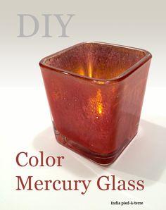 How to Make DIY Colored Mercury Glass