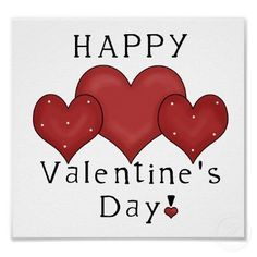 Happy Valentine's Day Hearts D7 Print/Sign Poster | Zazzle.com