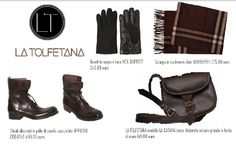 ...La Tolfetana, per questo total look al maschile consiglia: caldissimi guanti in pelle e lana NEIL BARRETT, sciarpa in cashmere BURBERRY, stivali in pelle di cavallo OFFICINE CREATIVE, completando il tutto con la bellissima borsa a tracolla, in cuoio naturale, A TOLFETANA, modello La Catana misura grande...l' articolo completo è disponibile su www.nowabsolutely.com