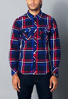 Classic Fit Plaid Shirt | 21 MEN - 2000128949