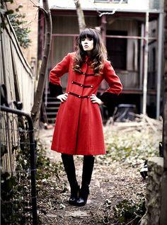 Red coat. Love it!