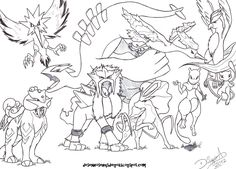 zapdos articuno moltres colouring pages (page 2)