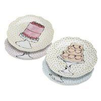 Rosanna Tableware Eat Dessert First Dessertteller 4er Set im Geschenkkarton (45103)