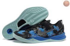 Noir Bleu Jade BasketbTous Chaussures Style 555035 707 Nike Zoom Kobe 8 VIII