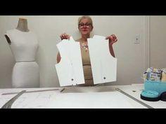 Bodice block, the pattern drafting. - YouTube