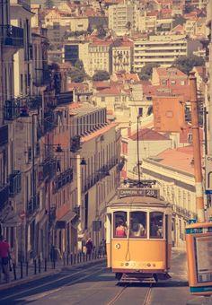 Lisbon - Portugal (by Ignacio Palomo Duarte) Amazing Places Wonderful Places, Beautiful Places, Amazing Places, Lisbon Tram, Lisbon Portugal, Old City, Trip Planning, Paths, The Good Place