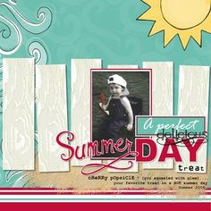 A Perfect Delicious Summer Day Treat Enchanted Summer Digital Scrapbook Layout / Photo Book Page from Creative Memories, July 18, 2012,  Detailed Instructions: http://projectcenter.creativememories.com/digital/2012/07/a-perfect-delicious-summer-day-treat-enchanted-summer-digital-scrapbook-layout.html  $5.95
