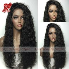 Wigs 200 Density Loose Curly Synthetic Lace Front Wig Black Color Heat Resistant Fiber Hair Curly Wigs Synthetic Wigs For Black Women * Find similar products by clicking the image