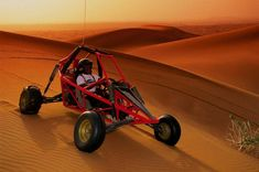 Dune buggies are cool. That's practically all you need to know. Companies that do dune buggy safaris will pick you up from Dubai and take you out into the desert for a morning or evening of dune buggy antics. It's the perfect way to round off an adventure in Dubai.