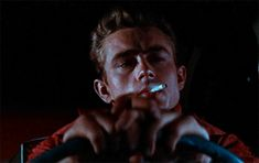 James Dean in Rebel Without A Cause, 🌙 Old Hollywood Actors, Movie Gifs, Jimmy Dean, Cool Face, Moving Pictures, Man Crush, Pretty Boys, Movie Stars, Pop Culture