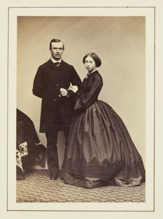 Princess Alice and Prince Louis of Hesse, December 1860 [in Portraits of Royal Children Vol.5 1860-1861] | Royal Collection Trust