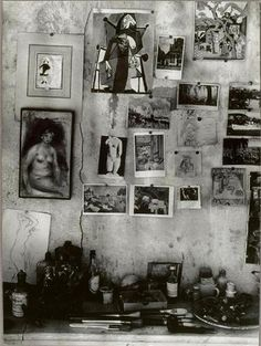 by Brassai, wall of pierre bonnard's house, 1946