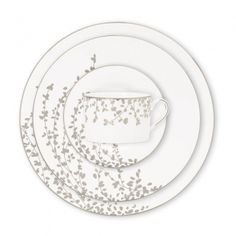 Kate Spade for Lenox China  Pattern: Gardner Street Platinum