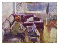Working from home by Susanna MacInnes - Monday morning painting Martha in her home Learn To Paint, Drawing Techniques, Monday Morning, Painting & Drawing, Colours, Gallery, Drawings, Artist, Inspiration