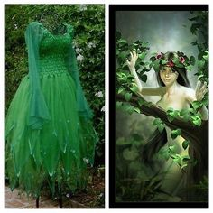 Adult-Celtic-Forest-Green-Fairy-Dress-Medieval-Costume-Renaissance-Theatre