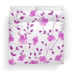 Beautiful,pink,white,flowers,floral,pattern,cute,girly,purple,modern,trendy