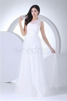Robe de mariée la plus belle A-ligne Une épaule en Tulle http://fr.SzWedress.com/Robe-de-mariée-la-plus-belle-A-ligne-Une-épaule-en-Tulle-p20654.html