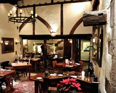 Our scalloped top candle at a restaurant called The White Hart in England
