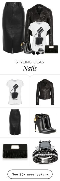 """Black Nail Polish"" by vero1307 on Polyvore featuring mode, Tom Ford, LAUREN MOSHI en AeraVida"