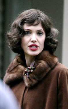 Different-Looking Angelina Jolie on The Changeling L.A. Set