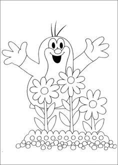 Krtek The Little Muldvarpen Tegninger til Farvelægning. Printbare Farvelægning for børn. Tegninger til udskriv og farve nº 8