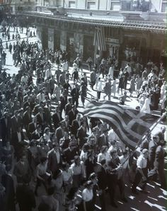 October 12, 1944: Stadiou street - Liberation of Athens from Nazi Occupation